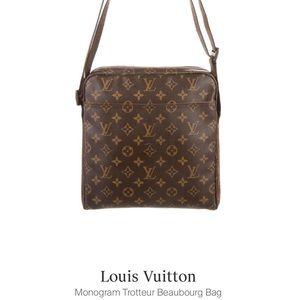 Louis Vuitton Monogram Trotteur Beaubourg Bag